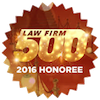 LawFirm500 2016 Honoree