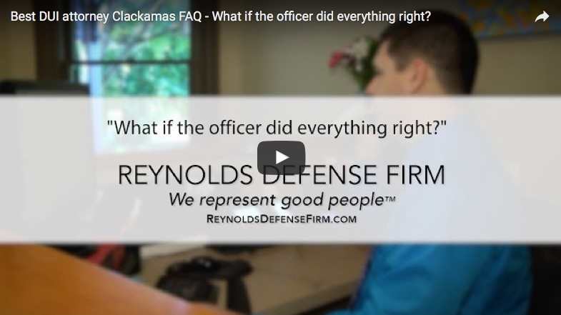 What If The Officer Did Everything Right?